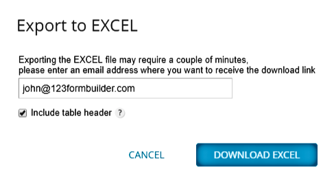 How to export to excel form submissions | 123FormBuilder Help