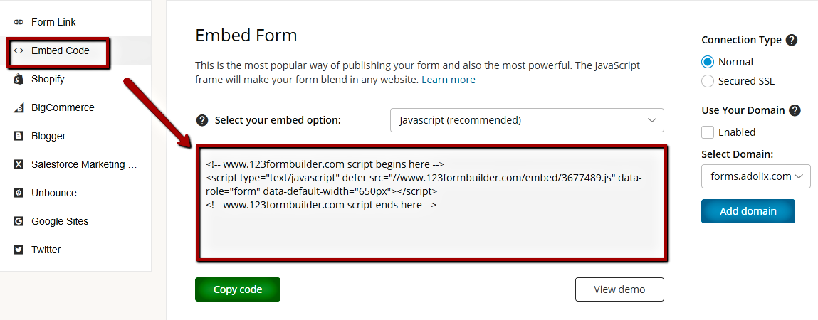 How to publish 123FormBuilder ></a></p> <p>All you need to do next is to open Adobe Muse and load the webpage where you want your online form to be added. In the editor (<em>Design</em>) follow these steps:</p> <p>1. From the <strong>Object</strong> tab, select the <strong>Insert HTML</strong> option.</p> <p style=