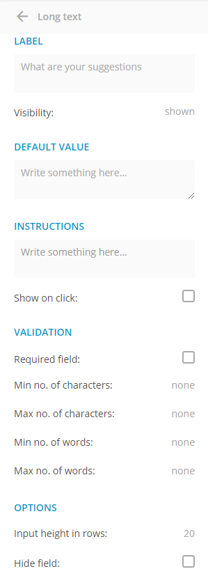 Text Area Field