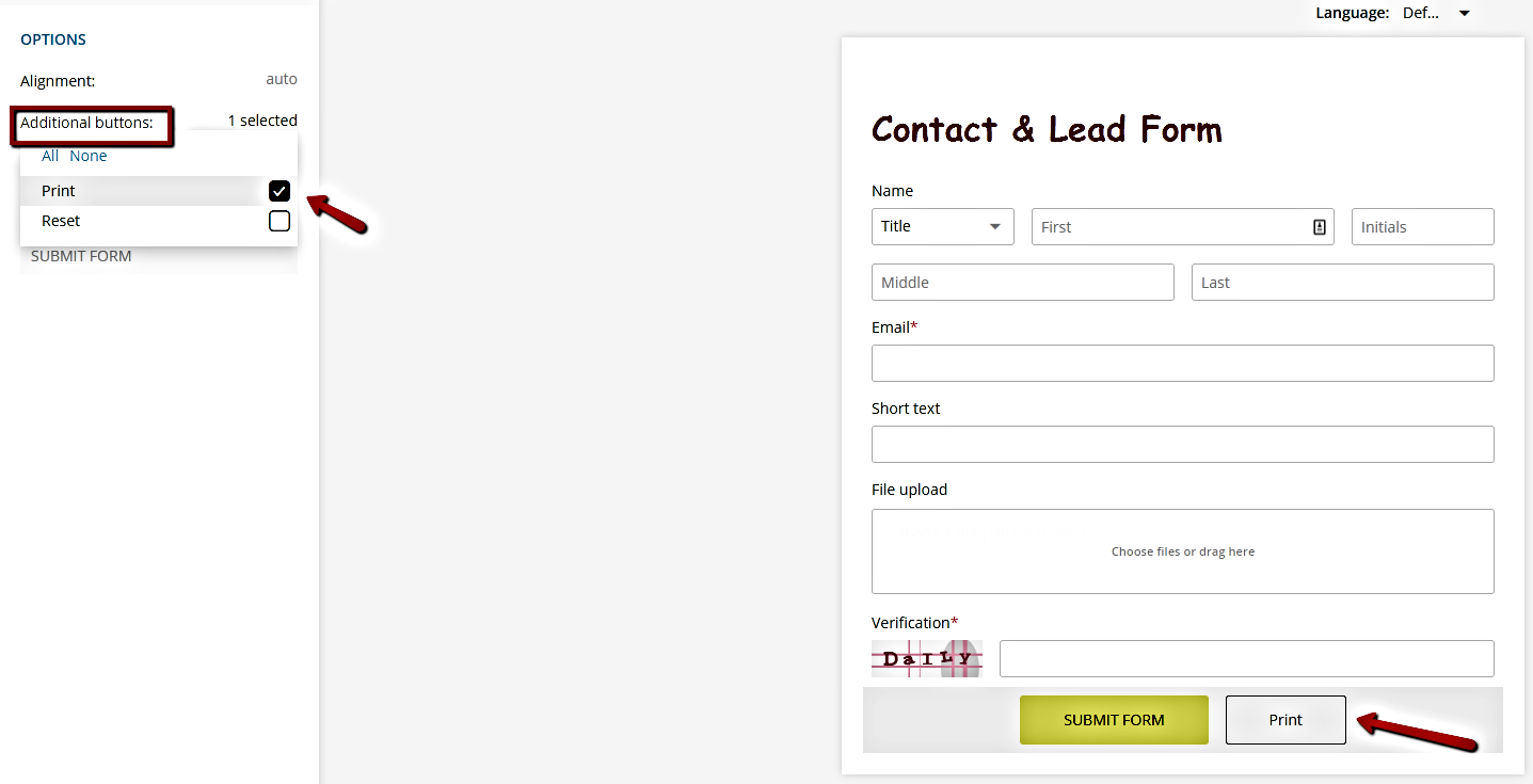 add print button to form