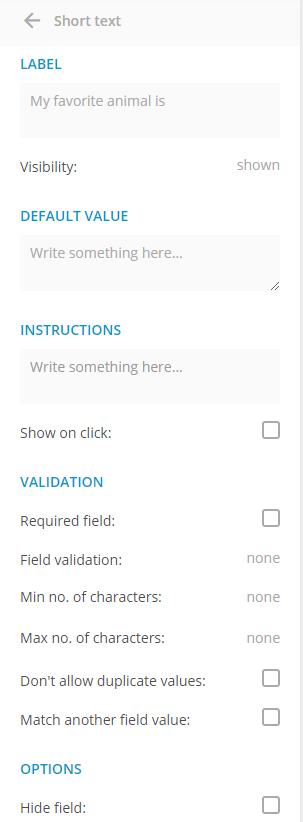 Text Box Field