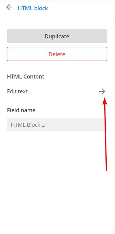edit HTML field 123FormBuilder