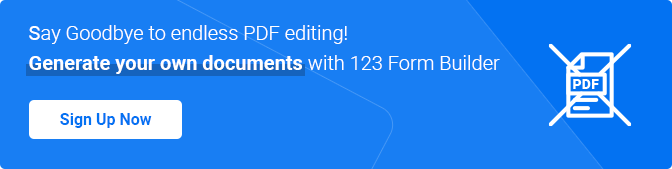 generate PDF documents from online forms