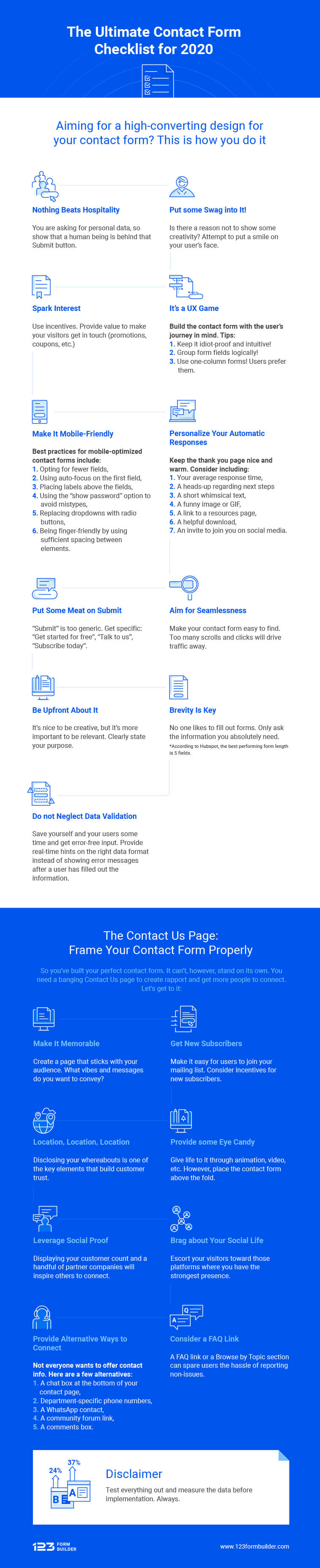 Contact Form Checklist 2020