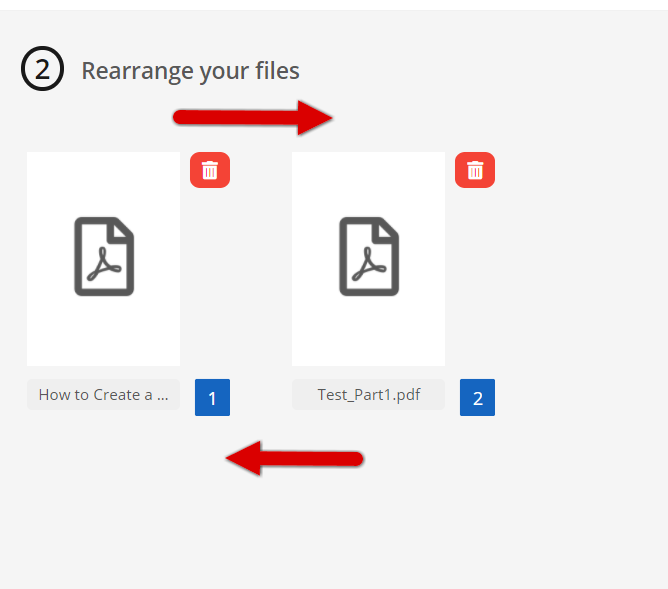 how to merge pdf files with pdf2go