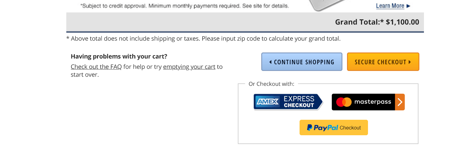 newegg guest checkout example