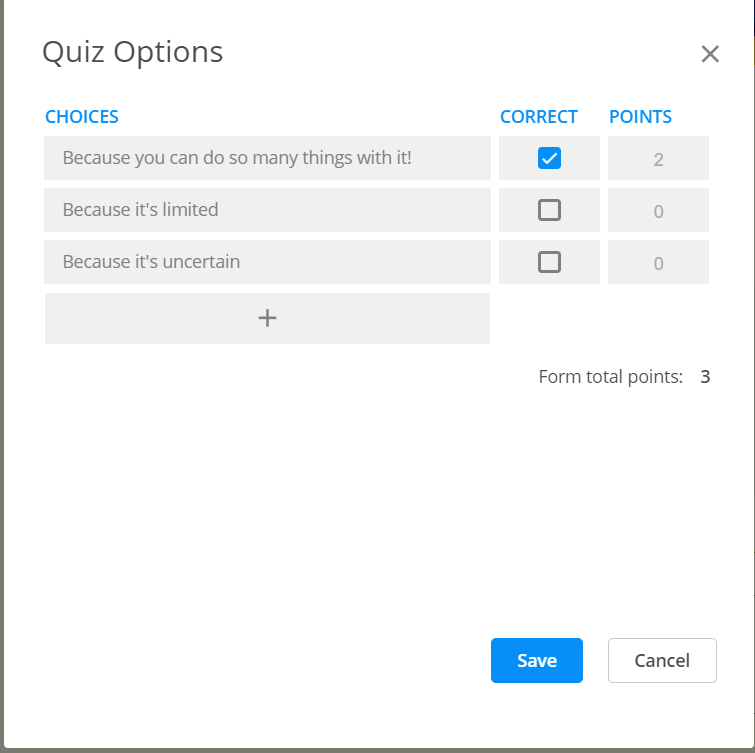 booking system with quiz questions