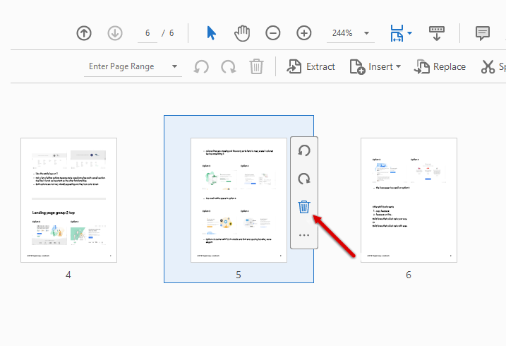 remove pages from pdf with adobe acrobat