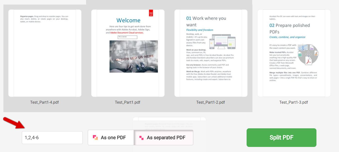 how to split pdf with freepdfconvert