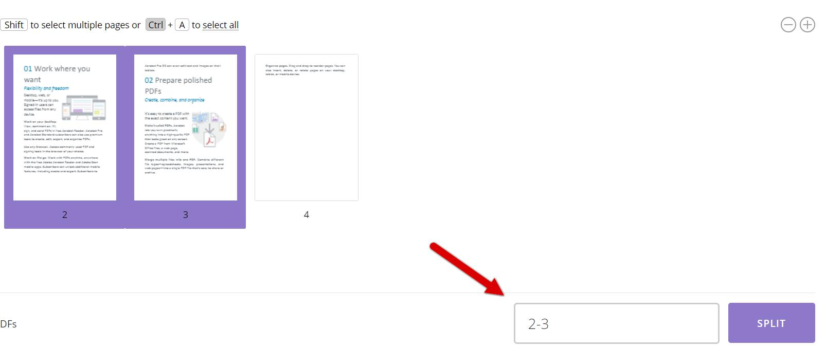 how to split pdf with pdfio