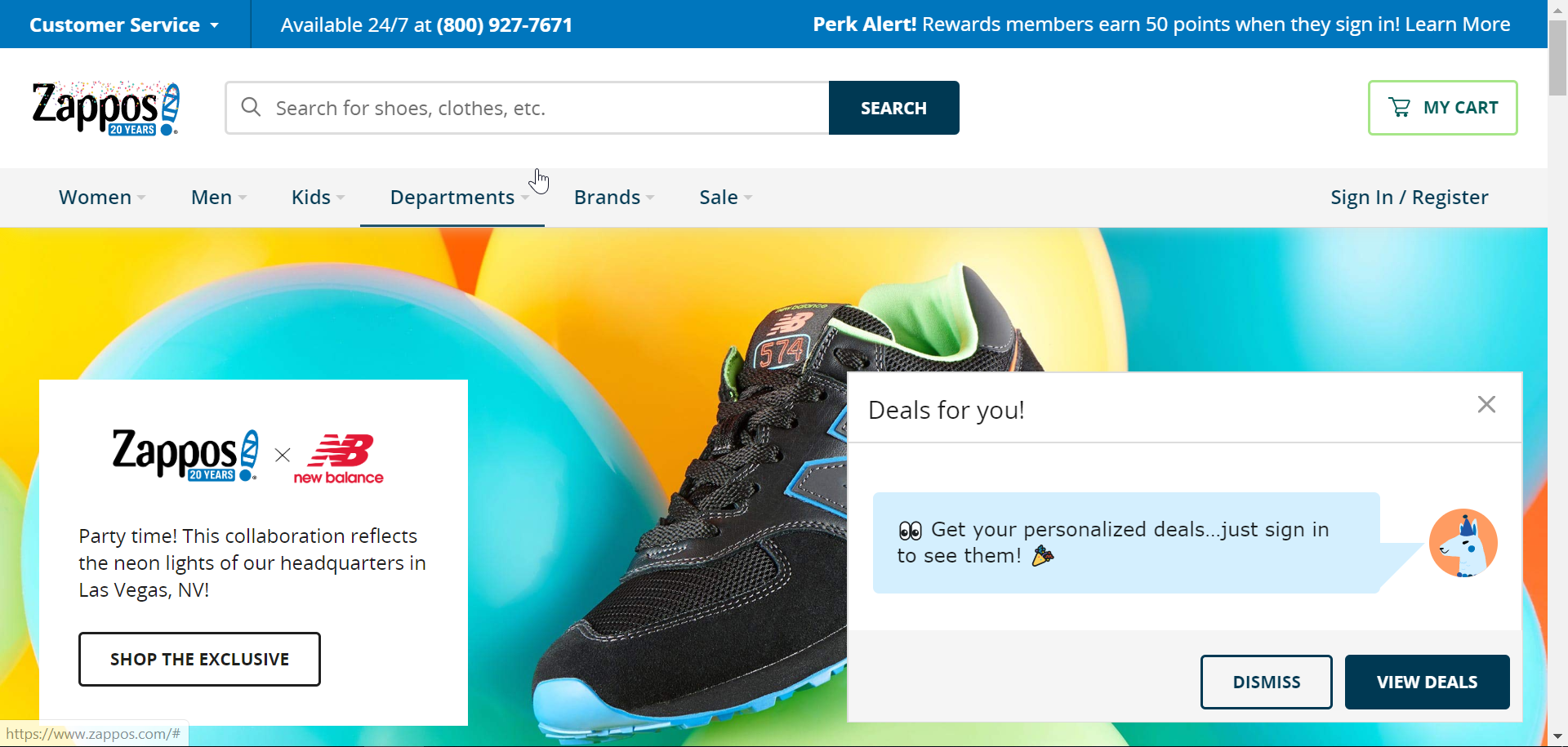 zappos encourage customers to create a checkout account on its website