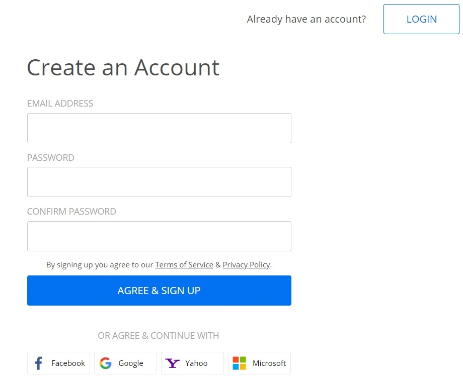 create 123FormBuilder account