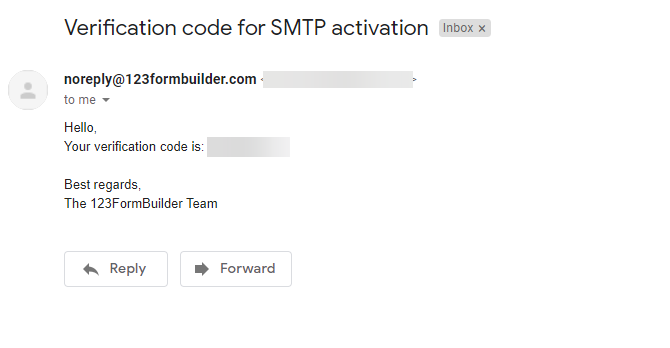 123Formbuilder SMTP server web forms