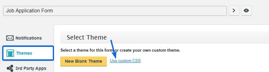 Custom CSS - WordPress Form Builder Plugin