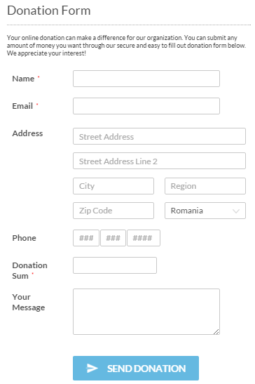 WordPress Donation Plugin - CaptainForm WordPress Form Builder Plugin