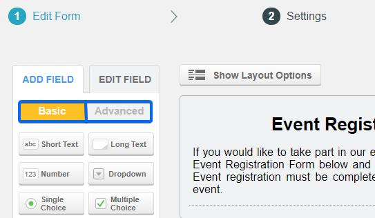 event registration form CaptainForm