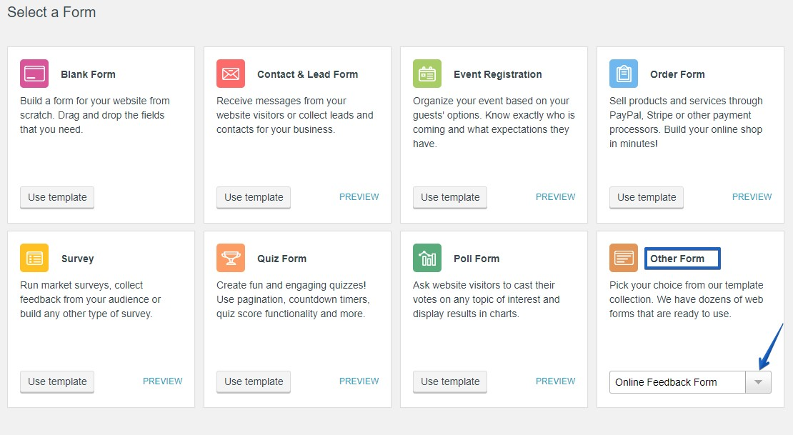 Online Feedback Form - WordPress Form Plugin