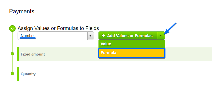 CaptainForm-add values and formulas