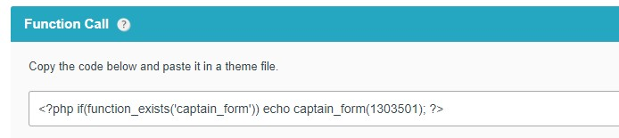 Publish a Form with a Function Call on WordPress
