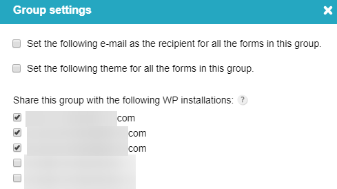 manage wp forms withing multiple wp installations