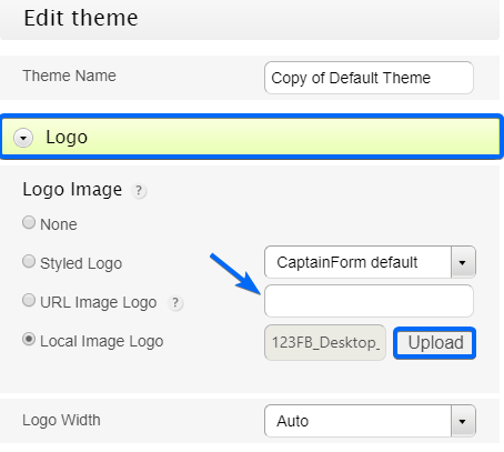 Add your own logo in your WordPress Form - CaptainForm WordPress Form Builder Plugin