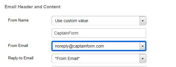 CaptainForm Submission notifications