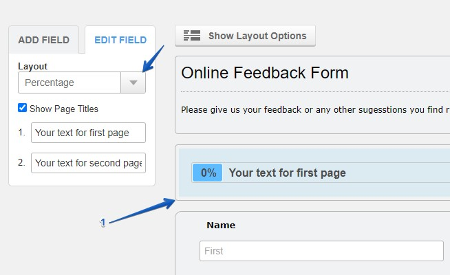 creating multi-page forms