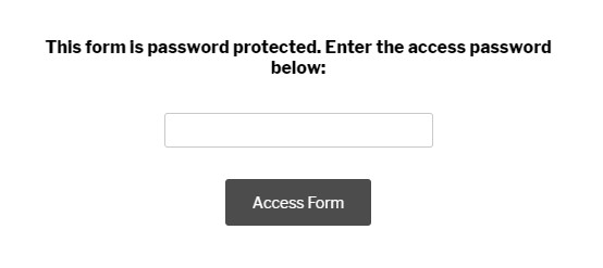 Password Protected Form
