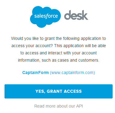 desk.com integration for wordpress forms