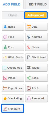 WordPress E-signature - CaptainForm WordPress Form Builder Plugin