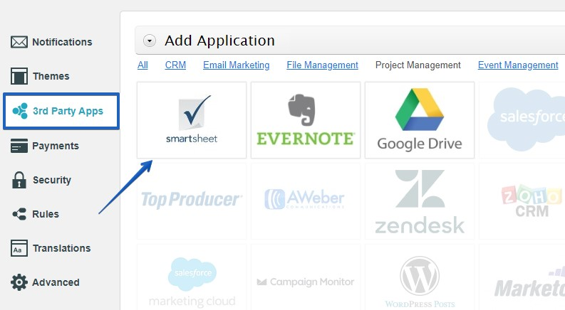 smartsheet integration for wordpress