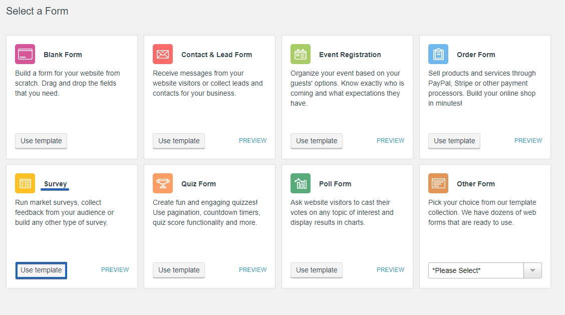 Online Survey - WordPress Form Builder Plugin
