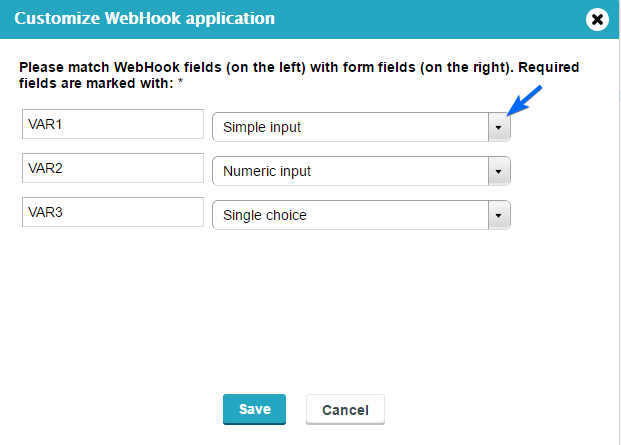 create webhooks to wordpress forms