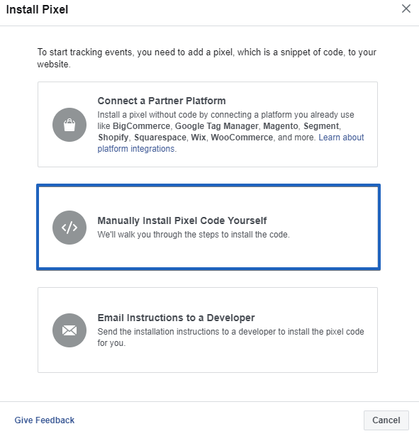 Facebook Pixel Tracking Form