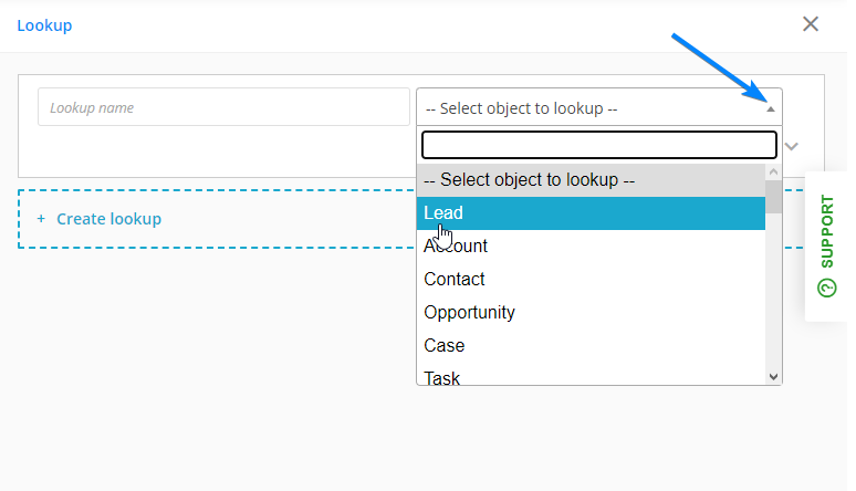 select object lookup