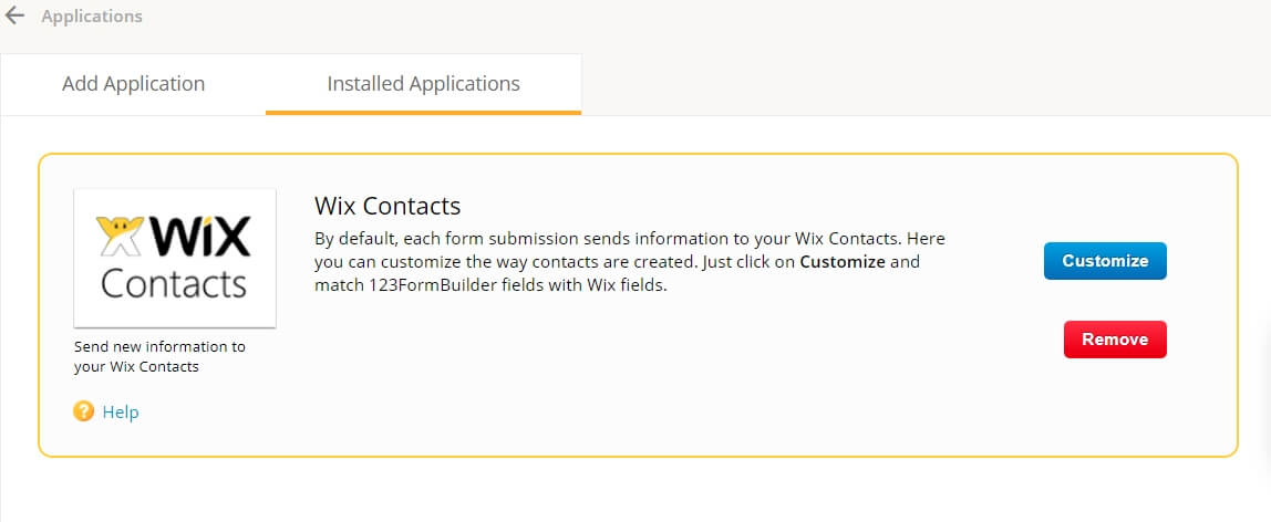 Wix Contacts App