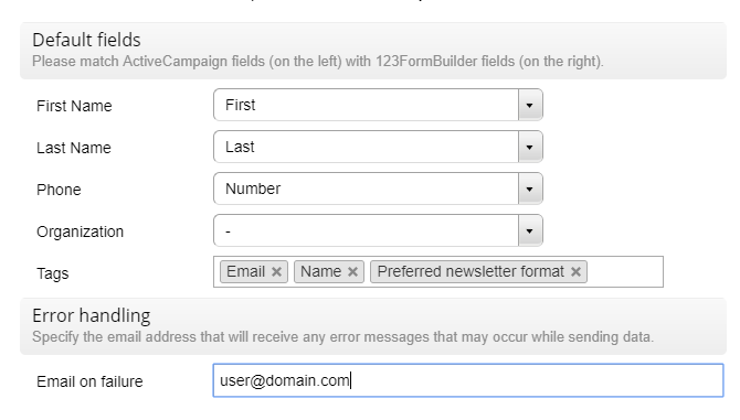 activecampaign web form integration