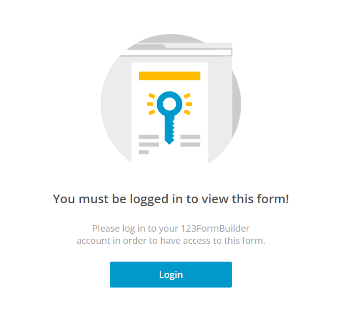 logged in message