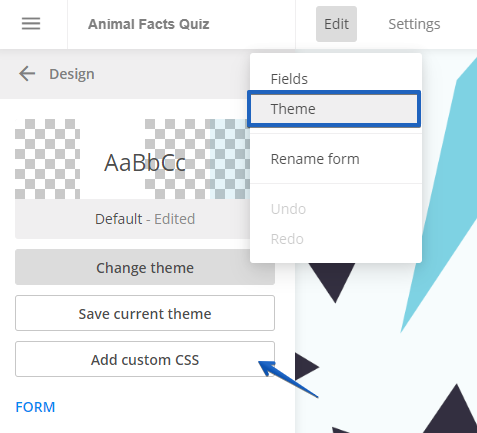 Use Custom CSS