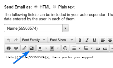 123FormBuilder how to include images to the autoresponder
