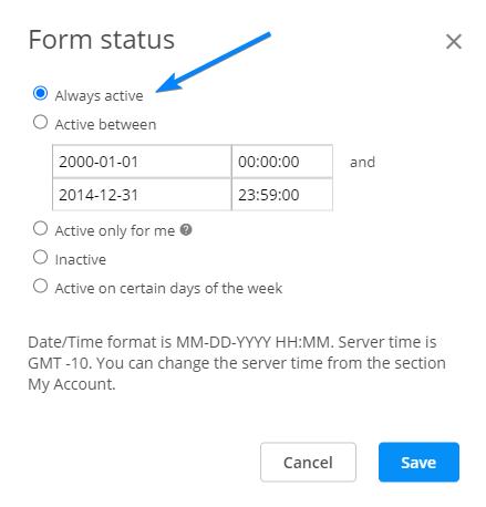 Form Status