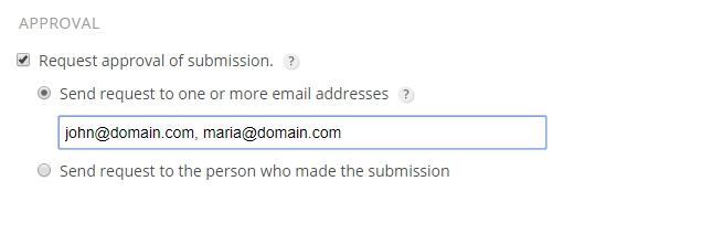 Approval of submission 123FormBuilder