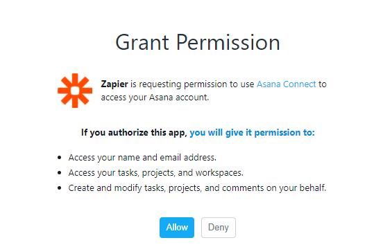 gran permission asana