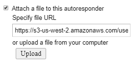 attach files to autoresponder
