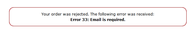 email is required error for authorize.net