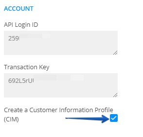 create customer information profile through form submission