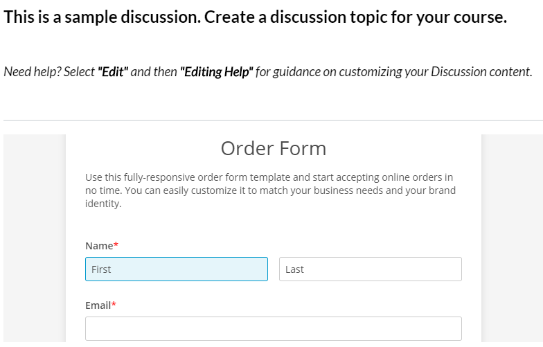 add web forms to Canvas course