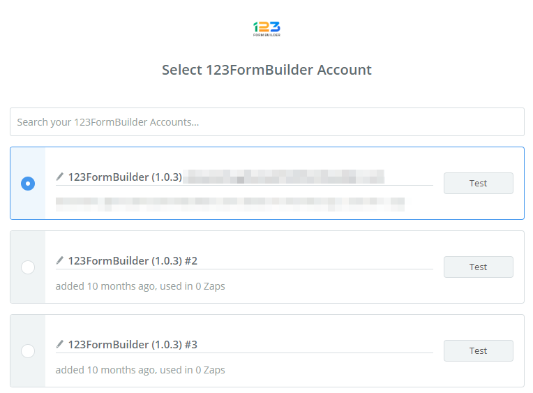 connect 123 form builder account