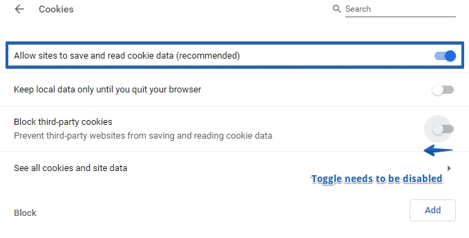 Enabling third party cookies in your browser |123FormBuilder