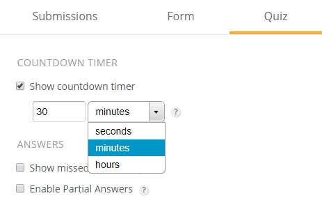 Adding countdown timer to your online quiz | 123FormBuilder